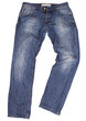 Blue jeans isolated on white background. Clipping paths