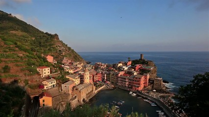 the town of Manarola in Cnque Terre National Park