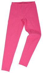 Pink sweatpants isolated on a white background