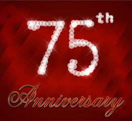 75 year happy birthday sparkles card, 75th anniversary