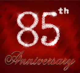 85 year happy birthday card, 85th anniversary sparkles