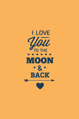 Vector illustration with love moon and