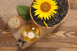sunflower oil, seed and sunflower