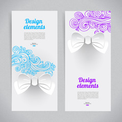 Abstract elegant design with paper bow