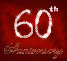 60 year happy birthday card, 60th anniversary sparkles