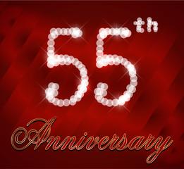 55 year happy birthday card, 55th anniversary sparkles