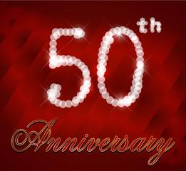 50 year happy birthday card, 50th anniversary sparkles