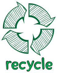 A recycle symbol