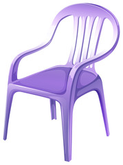 A purple plastic chair