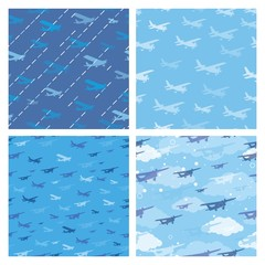 Seamless patterns with planes