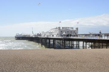 Brighton Pier and beach. England