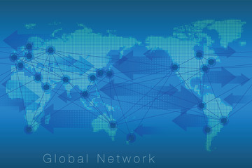 Infographics Background Global Network
