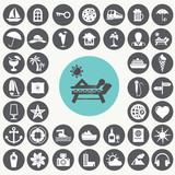 Fototapety Vacation icons set. Illustration eps10