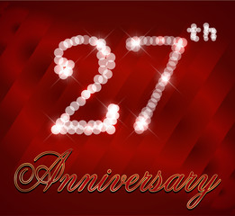 27 year happy birthday card, 27th anniversary sparkles