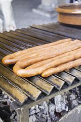 Sausage iron frying