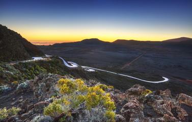 Aube au volcan, Pas des Sables, La Réunion.