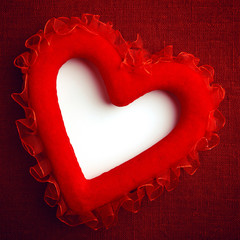 Heart on a canvas