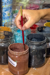 water based colors for decoration of ceramic