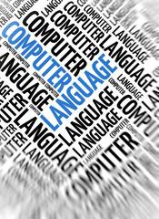 Modern marketing background - Computer Language
