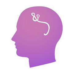 head with ebola virus