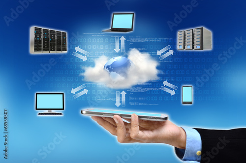 canvas print picture Cloud Computing Concept