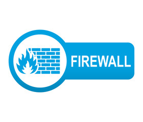 Etiqueta tipo app azul alargada FIREWALL