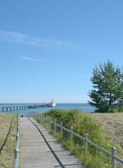 Strandabgang an der Seebrücke im Ostseebad Binz