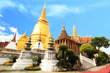 Golden pagoda in Thai temple