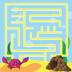 Puzzle for kids - marine life