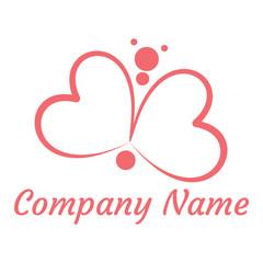 hearts  butterfly logo
