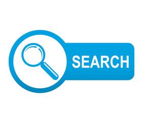 Etiqueta tipo app azul alargada SEARCH