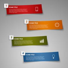 Info graphic colored striped paper template