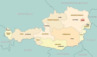 Österreich administrative Karte