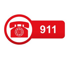 Etiqueta tipo app roja alargada 911