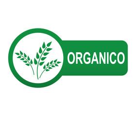 Etiqueta tipo app verde alargada ORGANICO