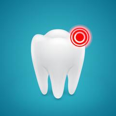 Sore area on the human teeth