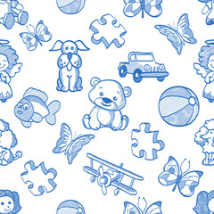 seamless kids pattern