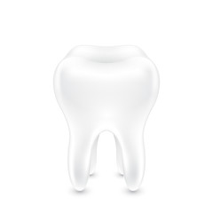 Clean healthy tooth