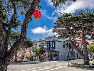 Old style building in Pacific Grove, Monterey, California