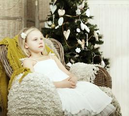 Tired child, Christmas holidays