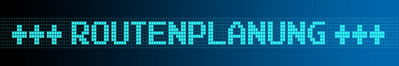 Website Banner - Routenplanung - Format 6 zu 1 - g976