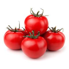 Fresh tomatoes over white