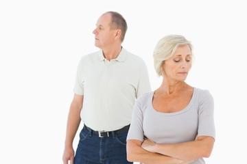 Older couple having an argument