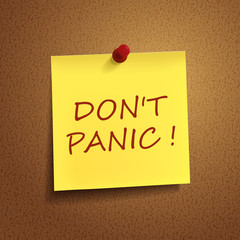 do not panic words on post-it