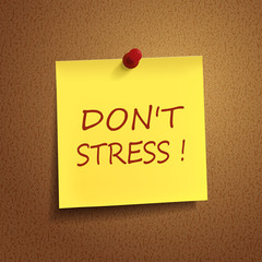 do not stress words on post-it