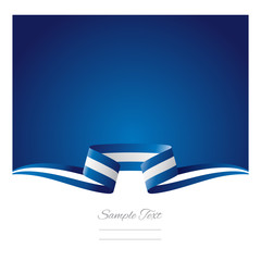 Abstract background Greek flag ribbon