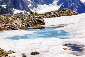 Mount Shuksan Blue Snow Pool Artist Point Washington USA