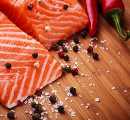 salmon filet with fresh herbs