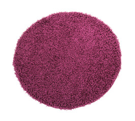 Purple carpet isolated on white
