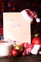 Letter to Santa Claus on Christmas lights
